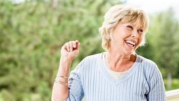 Dental implants in west chester | Older woman smilking