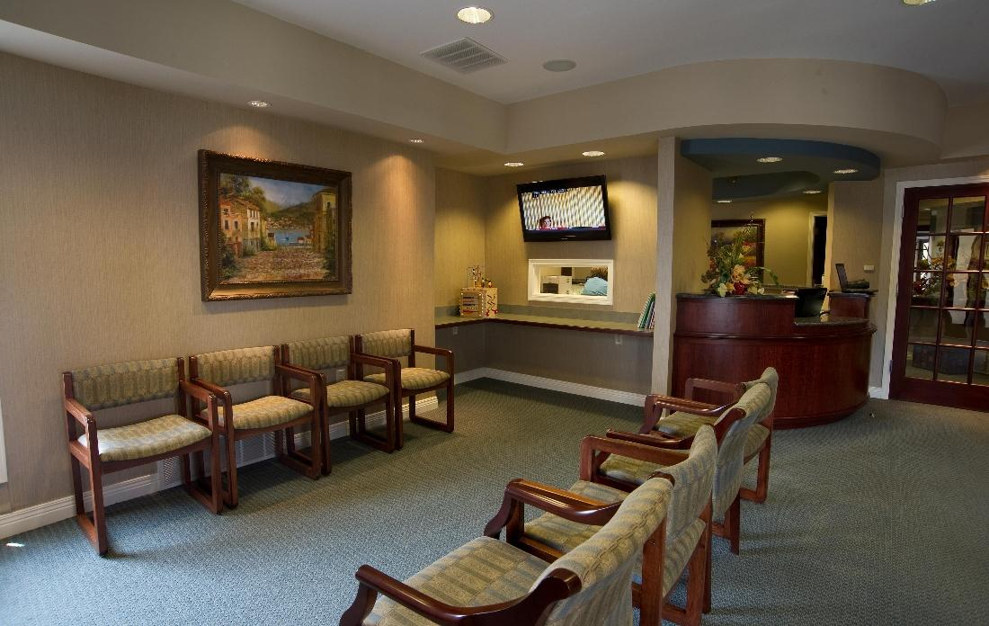 Reception & Waiting Room | Relaxing Dental Office in West Chester OH